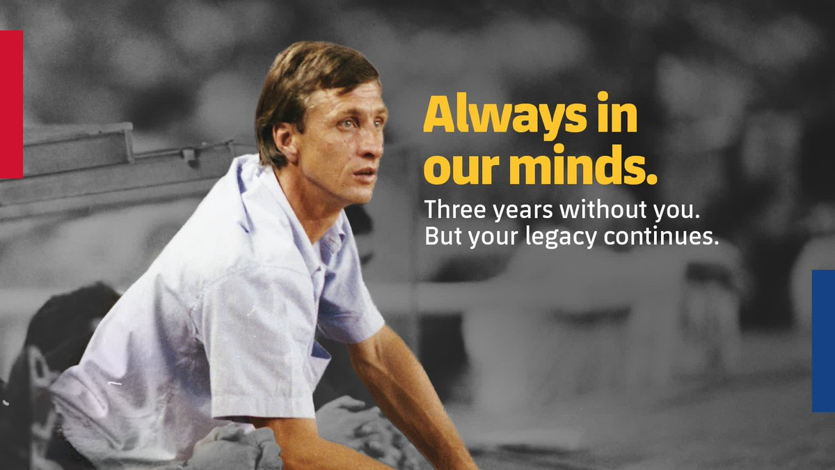 🙏 @JohanCruyff, always in our minds.  Three years without you. But your legacy continues.