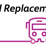 Image for the Tweet beginning: Travelling today? There's replacement bus