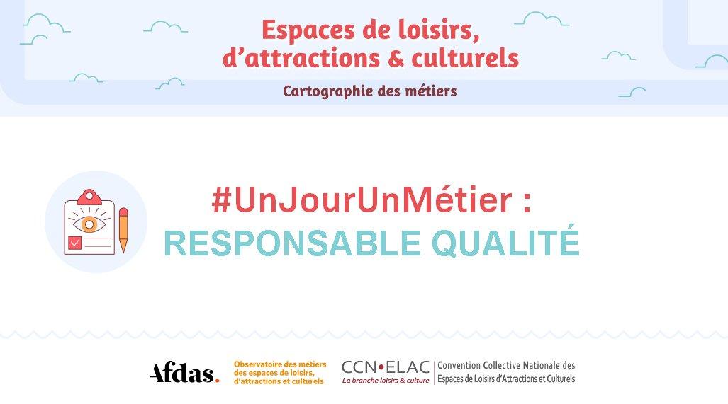 #UnJourUnMétier Découvrez les métiers de la branche #Loisirs et #Culture !  Aujourd'hui : Responsable qualité !  Avec l'@Afdas #Emploi #Profession #Métier #ResponsableQualité https://t.co/py0i1HKHf1 https://t.co/wqTiKXs81g