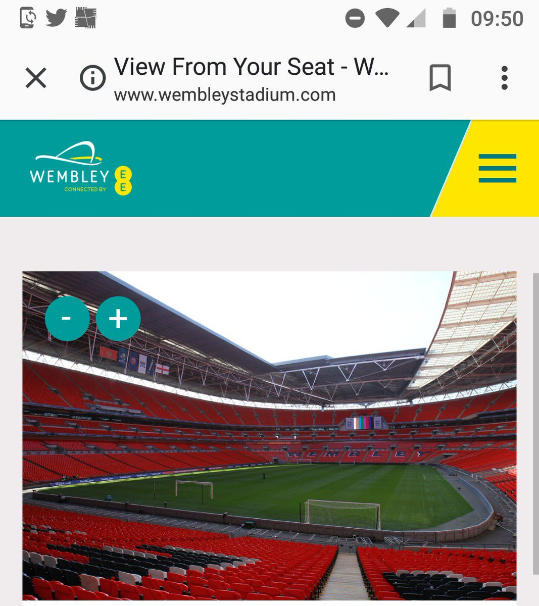 Finally made it to #wembley semi final tickets purchased. The view is beautiful  #wwfc #FACup