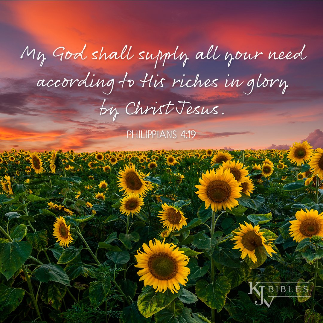 "KJV Bibles Store on Twitter: """"My God shall supply all your need ..."