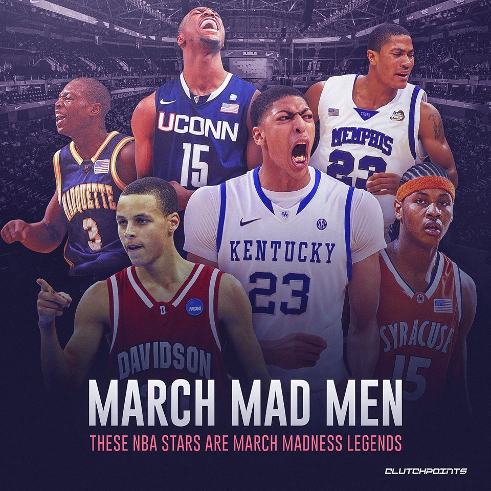 March is where the madness happens and stars like Anthony Davis, Carmelo Anthony, Derrick Rose, Stephen Curry, Kemba Walker, and Dwyane Wade once thrived. #Pelicans #Timberwolves #Warriors #Hornets #Heat #NBA #NBATwitter