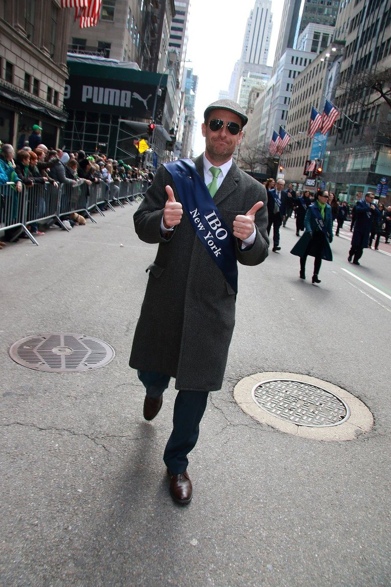 Here is me, marching with the Irish Business Organization in the NYC St. Patrick's Day parade ... #irish #business #parade #sunnyday #stpatricksday #nyc #newyork #newyorkcity #irishny #networking #ireland #fifthavenue #5thavenue #marching #StPatricksDay2019