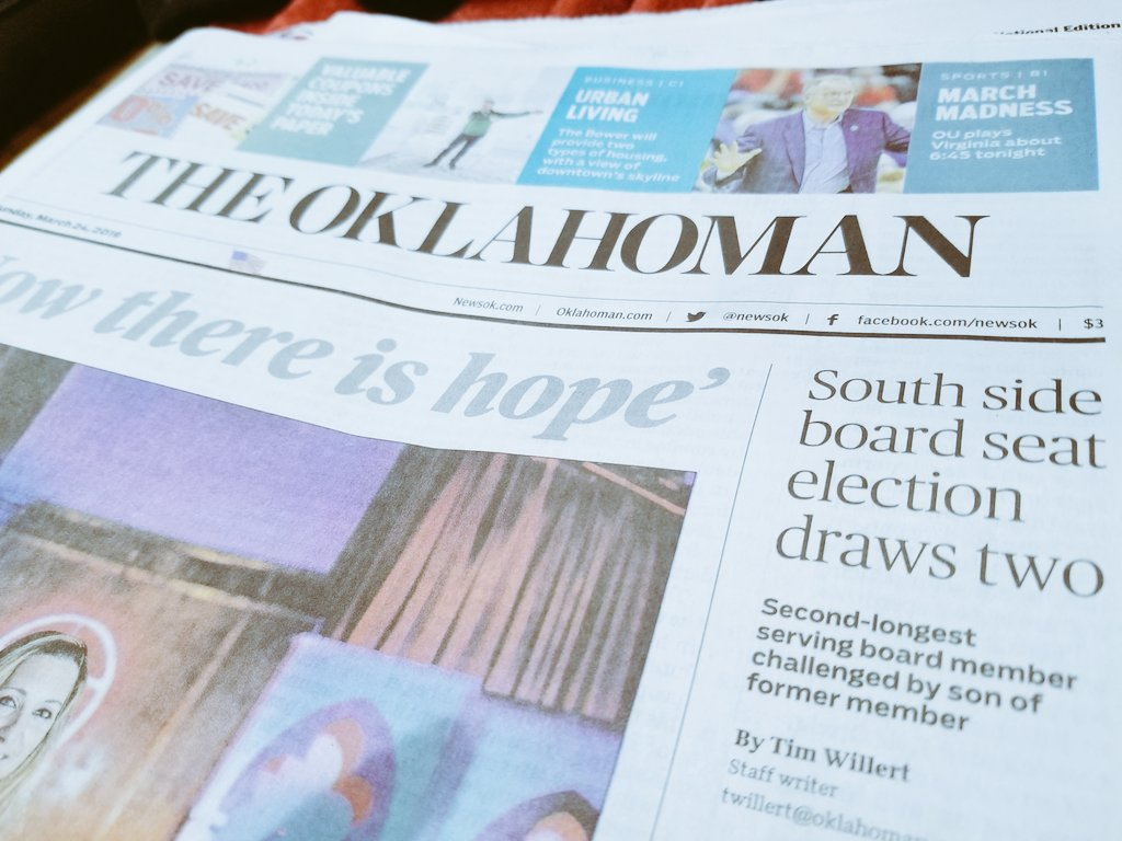 In today's @TheOklahoman - The push to commute more prison sentences in Oklahoma, a south OKC school board race features the incumbent and the son of a controversial ex-board member, and the state gets ready to remake its busiest interchange