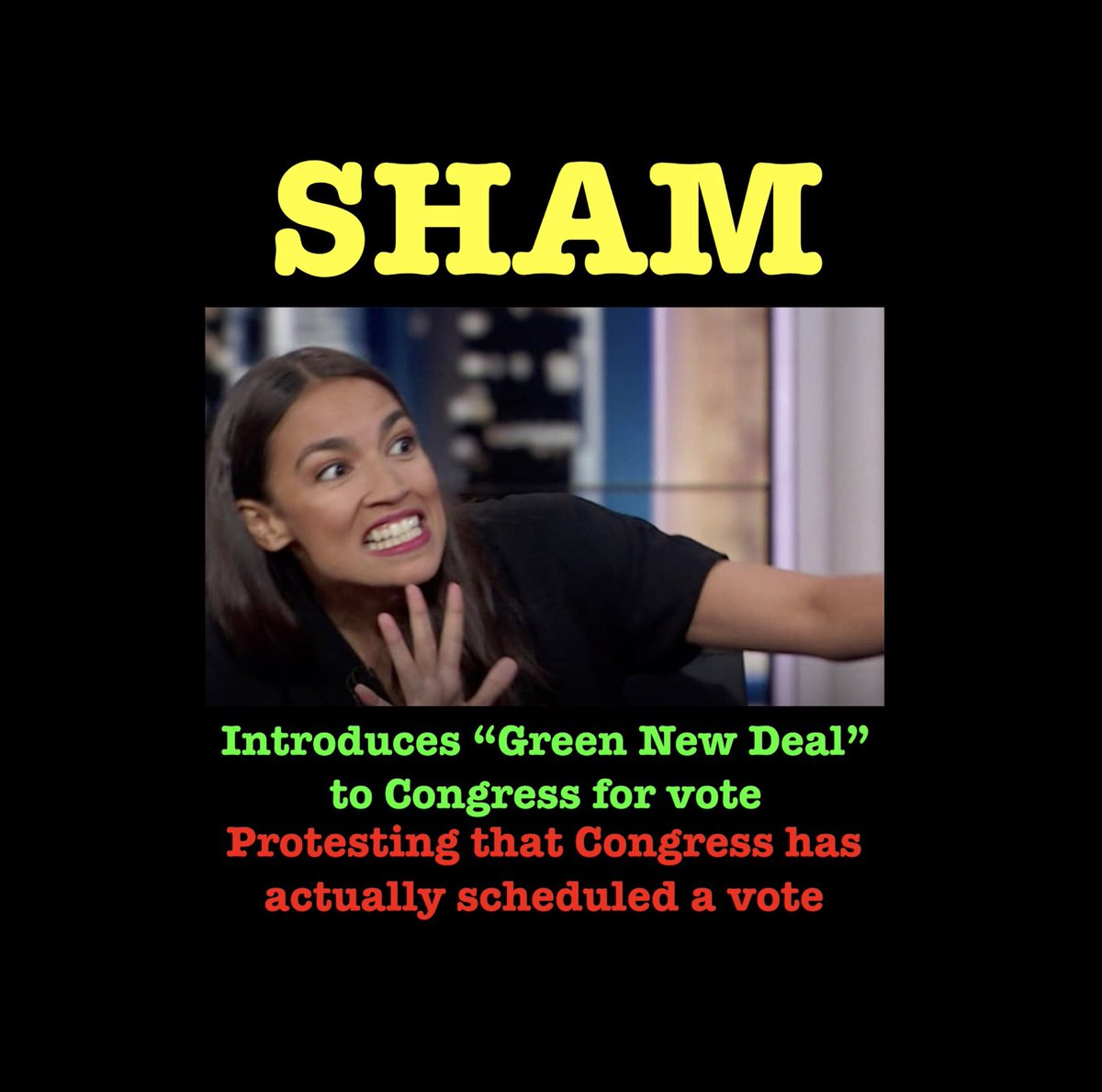 @AOC @realDonaldTrump @POTUS  @SpeakerPelosi @chuckschumer #GreenNewDeal