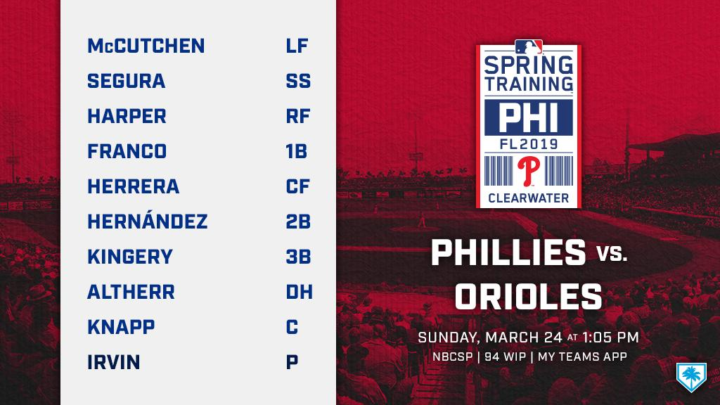 Presenting: Our penultimate Spring Training lineup ...  We're getting so close!