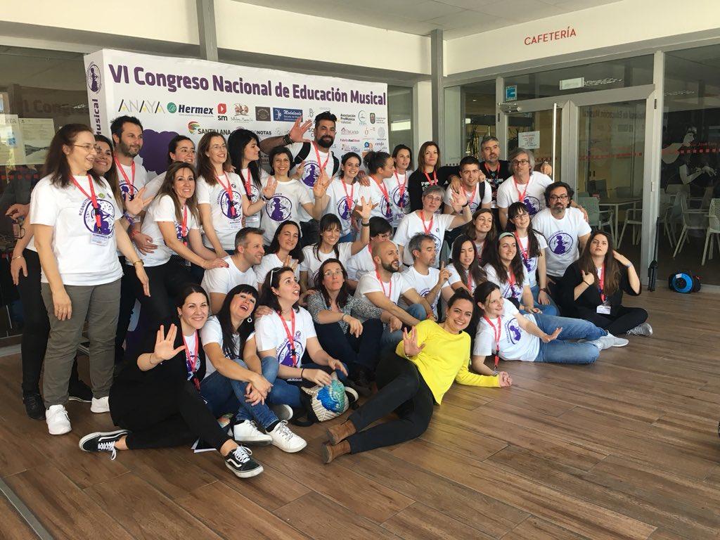 Felicidades y un millón de gracias al equipo organizador de este VI Congreso Nacional de Educación Musical @C_ConEuterpe. Fantástico @imusicar !!!