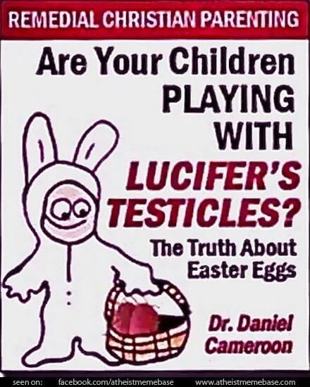 Wussten Sie, dass Ostern ein Fest der Satanisten ist? Ich auch nicht. #Wahnwichtel schon... 😂