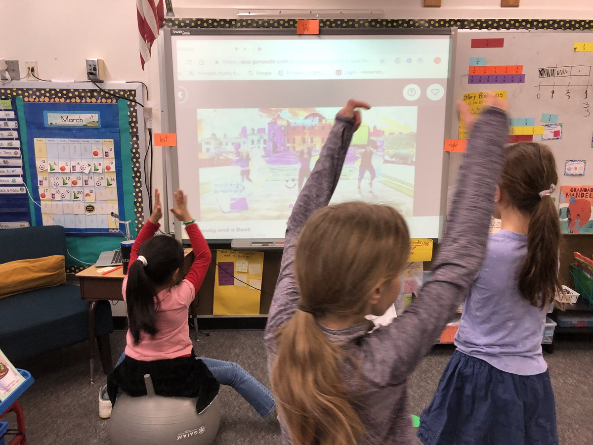 Go Noodle exercise during indoor recess due to rain plus fractions for fun with Ms Torres 2nd grade students <a target='_blank' href='http://search.twitter.com/search?q=KWBPride'><a target='_blank' href='https://twitter.com/hashtag/KWBPride?src=hash'>#KWBPride</a></a> <a target='_blank' href='https://t.co/c2Pqagoarx'>https://t.co/c2Pqagoarx</a>