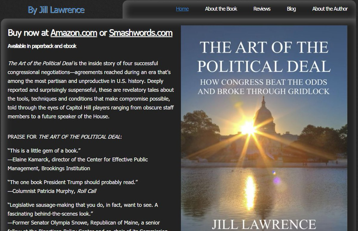 """Do you think Congress is the place where compromise goes to die? Where """"deal"""" is a dirty word? It isn't always like this. Four case studies of successful negotiations and who made them happen, including Bernie Sanders working with the late John McCain. http://theartofthepoliticaldeal.com/"""