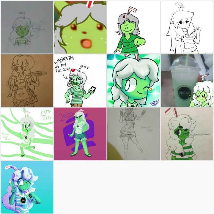 Thank you to all the people who have made Shamrock Shake-chan in the past week on Twitter and Discord! You're all the best! (I tried my best to find everyone I could on Twitter :P )
