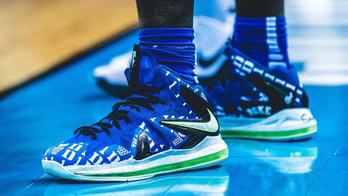 official photos afd0d a0a11 zion williamson custom nike lebron 10 kicksoncourt dukembb