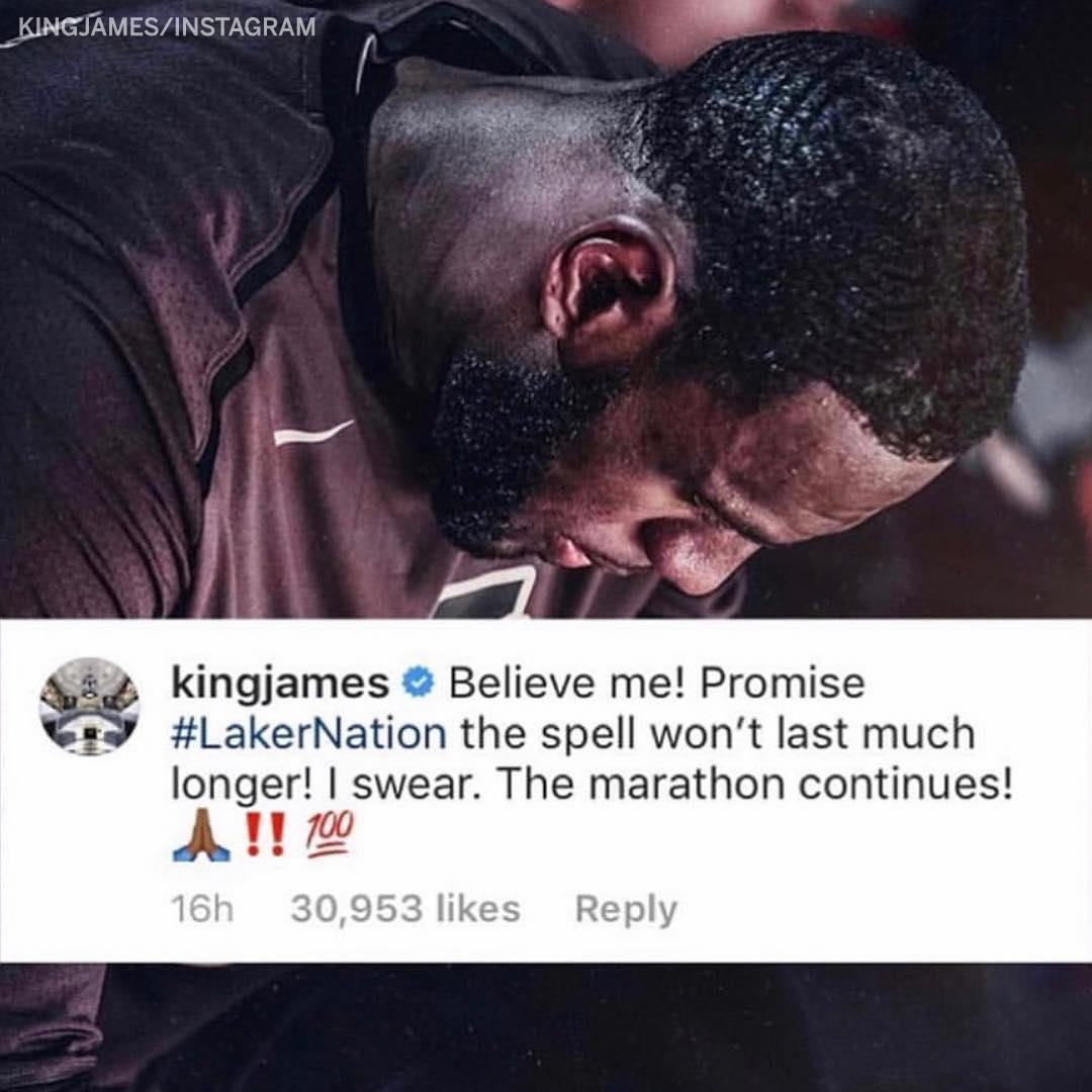 The Lakers have missed 6 straight postseasons.  LeBron isn't about that. (via @KingJames) https://t.co/coTYswh1LC