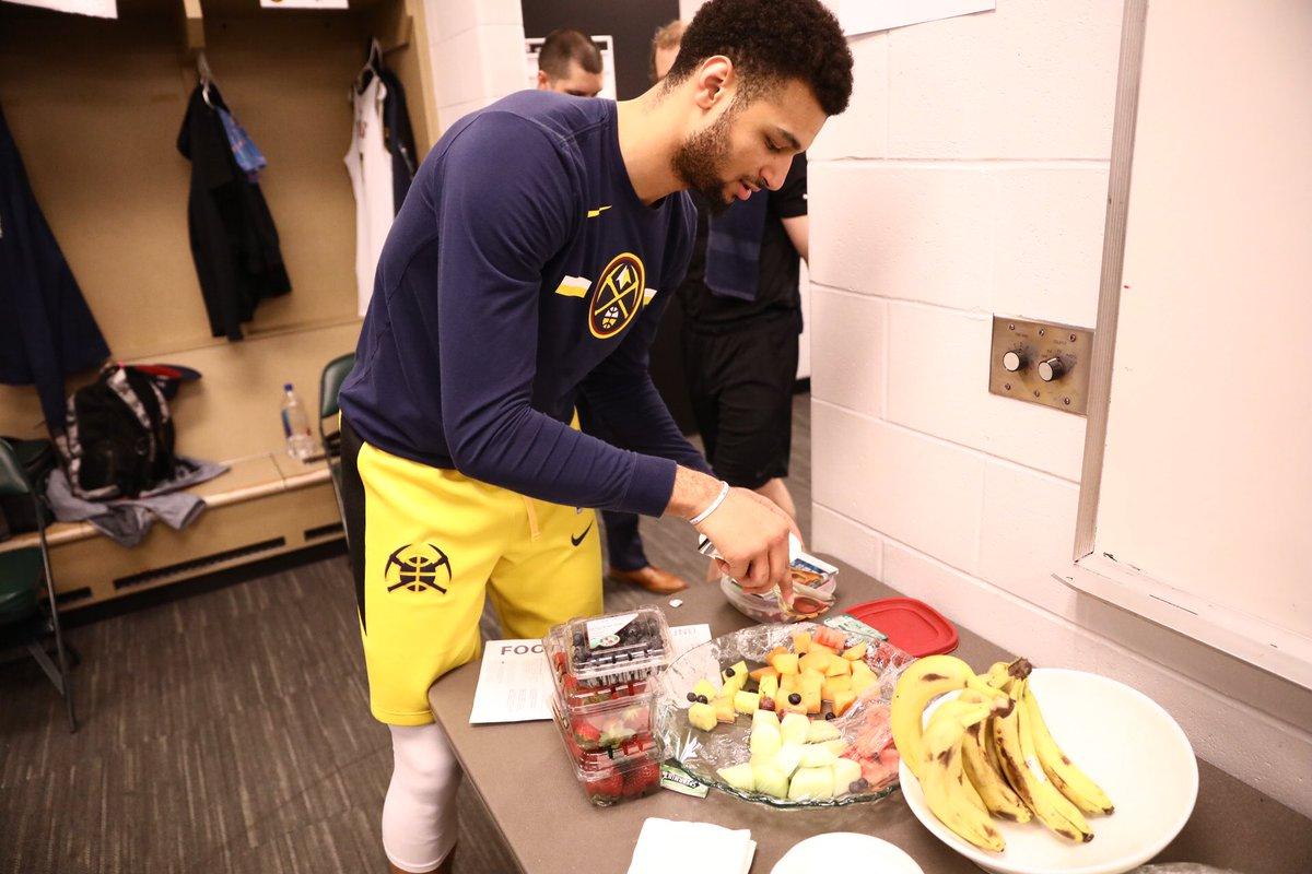 Snack is a necessity.  #MileHighBasketball