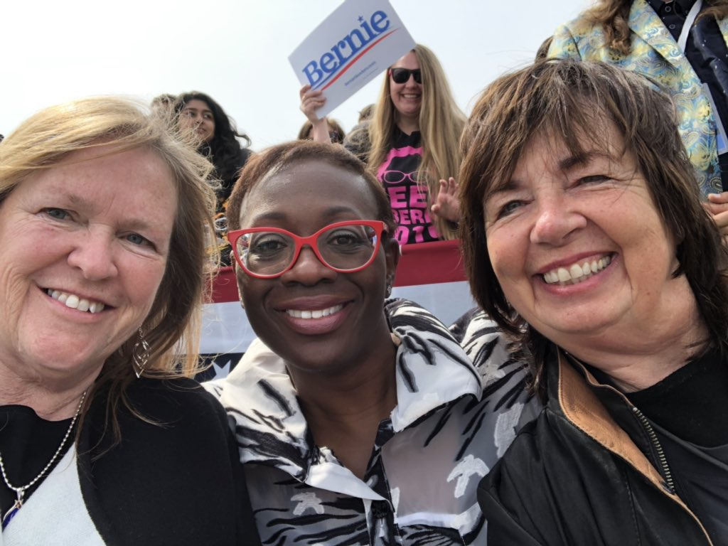 Here in #BernieinSf  With about 17,000 And us!! #bernie2020  #SundayMotivation   @ninaturner @janeosanders