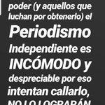 Image for the Tweet beginning: Informar no es un delito,