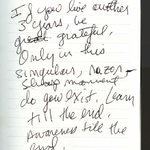 Image for the Tweet beginning: Journal entry