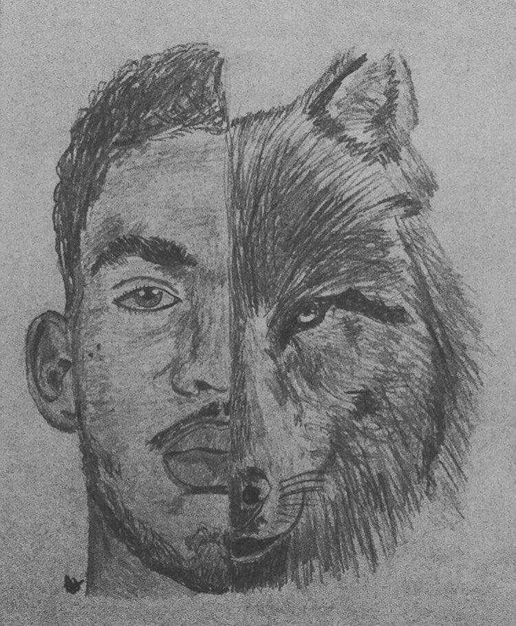 @Timberwolves @KarlTowns @NBAUK I drew the leader of the pack 🐺🐺🐺#AllEyesNorth