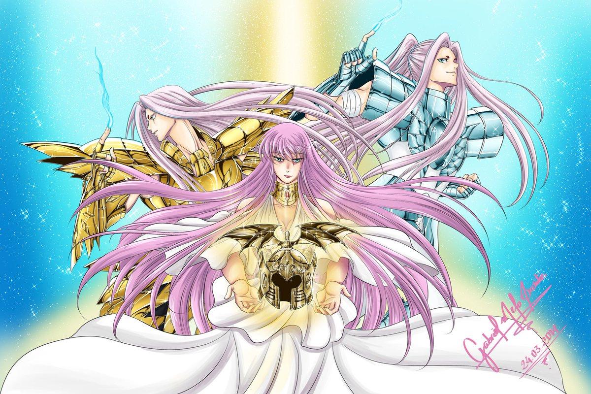 Athena #Sage #Cancer #Hakurei #Altar #LostCanvas #Past