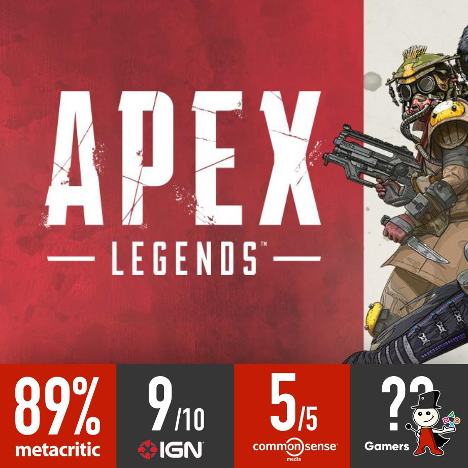 #ApexLegends Rating from different sources:  #Gamers_JO https://t.co/4Ct9kAcZSM