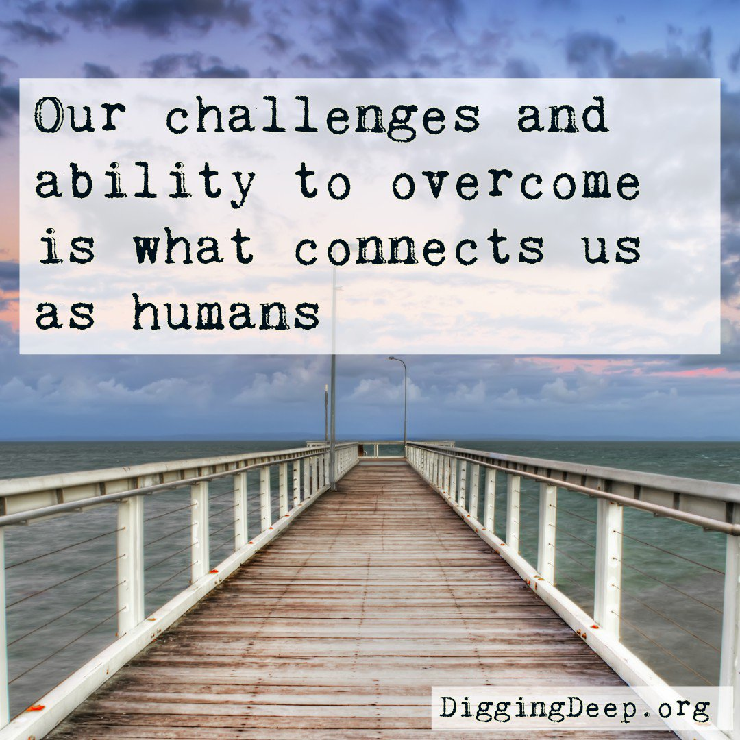 No matter who you are, where you live, or what you do, you have struggles. Together we can overcome. #resilience https://diggingdeep.org/joy-fight-andre-sobel-award-winner/…