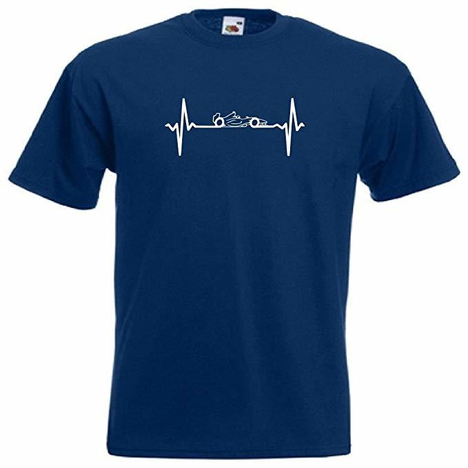 This #F1 heartbeat t-shirt is a must have for any #Formula1 fan. Available in 5 colours at https://amzn.to/2rDNRVb
