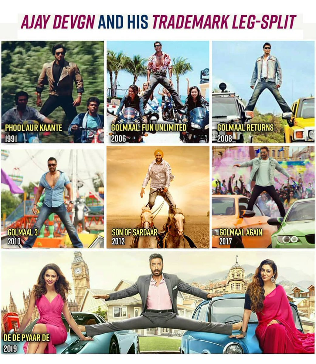 Which is your favorite? For more updates follow @aahomusic  #aaho #aahomusic #MittranDiYesHai #movies #theatre #video #movie #film #films #videos #actor #actress #cinema #dvd #star #moviestar #ajaydevgan #golmaal #bollywood
