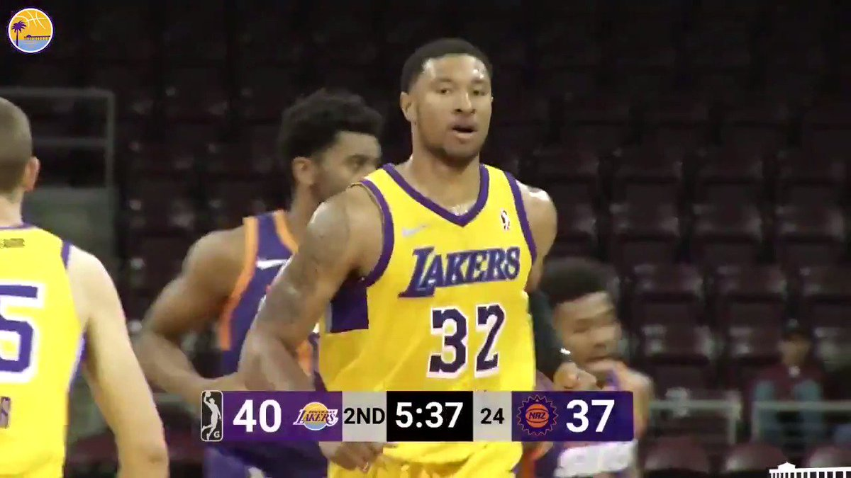Ending the year strong!  @Tru_Harp32 put up a team-high 20 points, 6 rebounds and 2 assists in the season finale at Arizona. https://on.nba.com/2UUT0FN