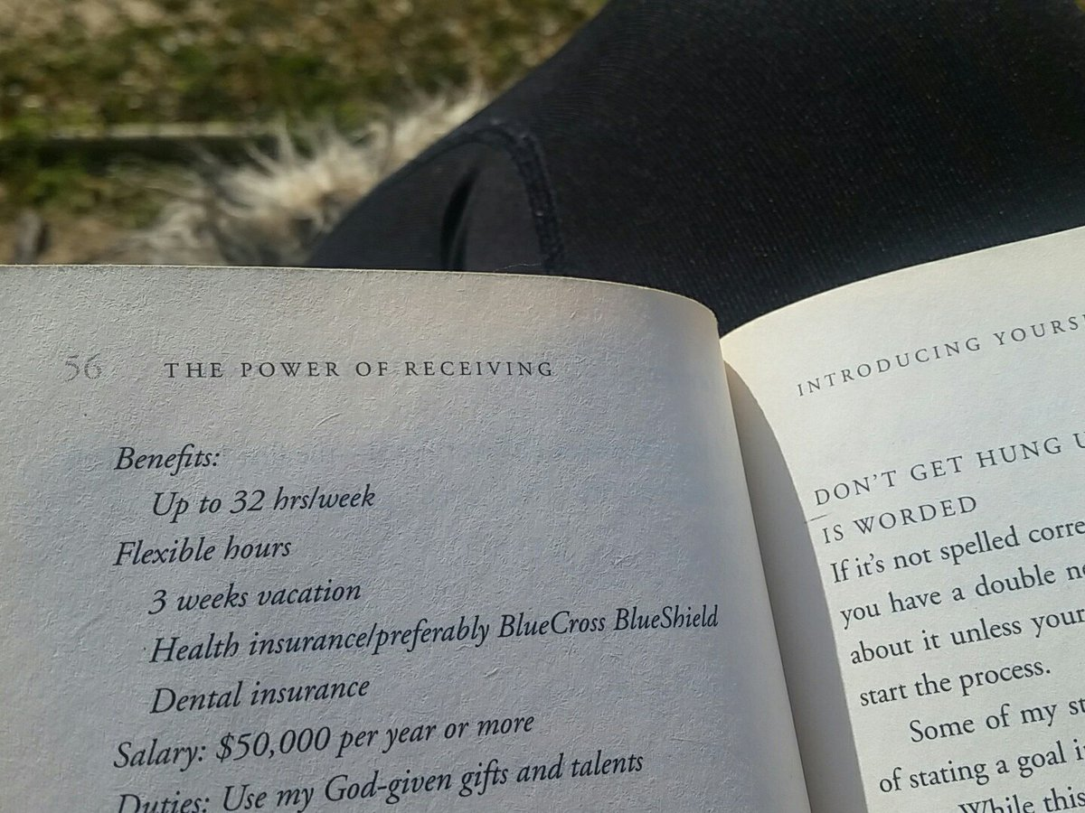 Exactly what I'm doing right now outside in a park #NowReading The Power of Receiving