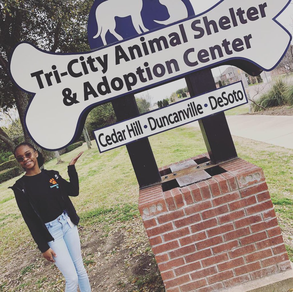 Thank you, Ms. Shelly @TriCityAnimalShelter for helping #PawsomePamperKit be great! This #Kidpreneur donates a portion of all sales to the Tri-City Animal Shelter. #HerGiftsForHisGlory #BE100 #BlackGirlMagic #wfaa #MarkCuban #DallasNews