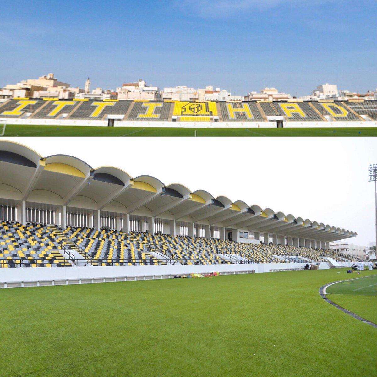 المدرج الذهبي On Twitter هذا هو شكل ملعب نادي الاتحاد بعد تركيب الكراسي بشكل كامل