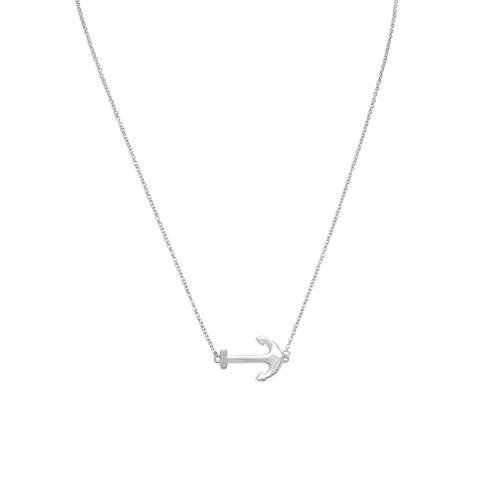 Excited to share the latest addition to my #etsy shop: Sterling Silver Chain Necklace with Sideways Anchor / Gift Necklace / Nautical Jewelry / Chain Necklace with Sideways Anchor Pendant https://etsy.me/2YkgwOL #jewelry #necklace #silver #springring #girls #no #white