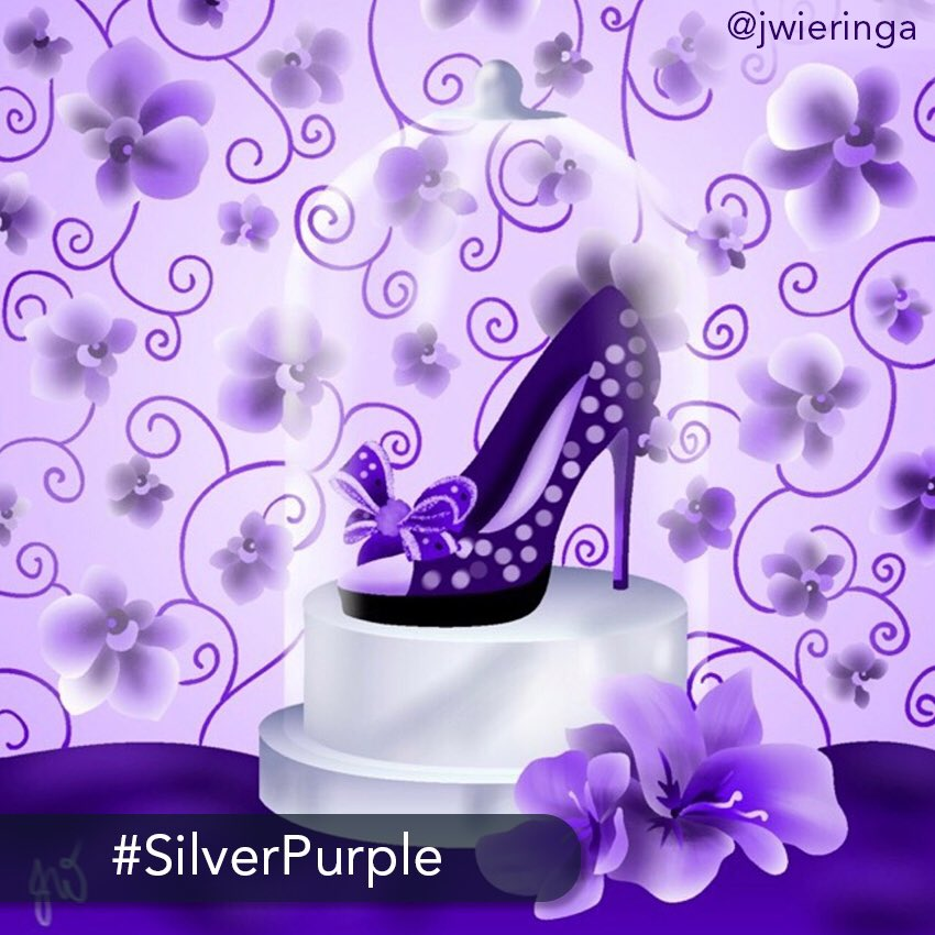 👑 The challenge: ✨Today's easy #challenge is to find the best color arrangement using only #silver and #purple #shades. ❤️ Start coloring today on your iPhone or iPad: http://get.colortherapy.me #color #coloring #coloringbook