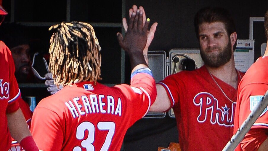 Odúbel                         Bryce                      🤝  outfielders with excellent hair