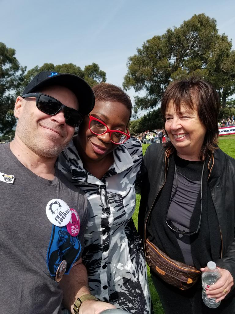 Ok I'm done. Two of the greatest warriors we have. @ninaturner and @RoseAnnDeMoro!!!!!!!  and !!!!!!!!!!!!!!!!!!!!!!! #BernieInSF #Bernie2020