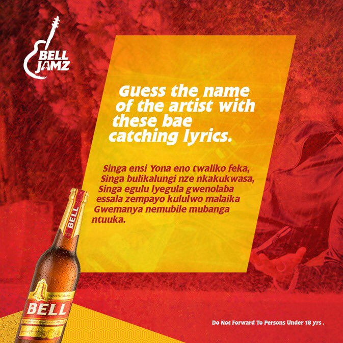 Guess the name of the artist with these bae catching lyrics. The first 4 answers before midnight will win #BellJamz goodies.😉