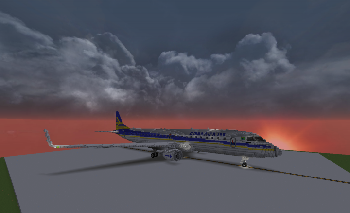 Freeware aircraft addon #Embraer 190 for #Minecraft Tweet added by