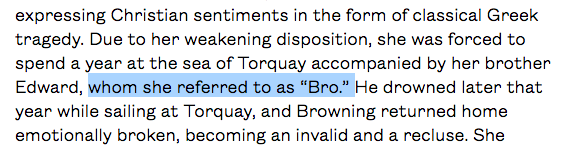 Just when I tell myself to stop googling for more random Elizabeth Barrett Browning facts.