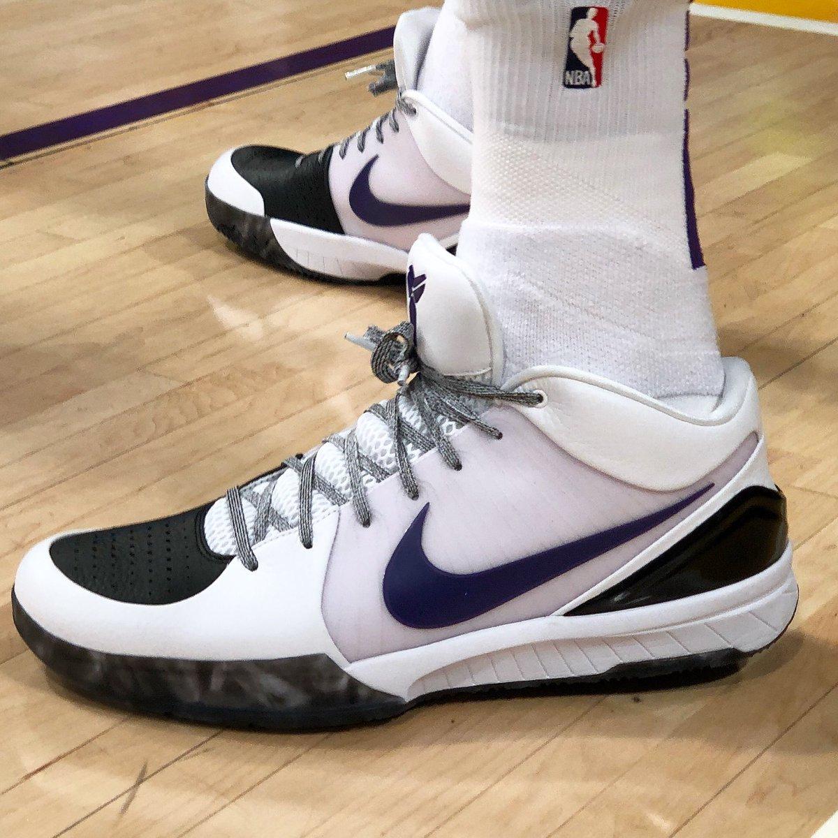 Kyle Kuzma's Nike Kobe 4 Protro P.E. tonight! #NBAKicks