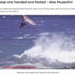 Image for the Tweet beginning: Spaniard Alex Mussolini landed a