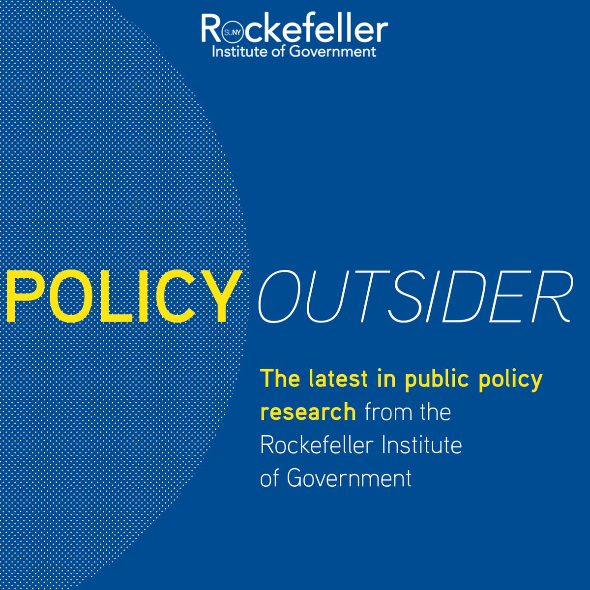 "Get the latest in #publicpolicy research and analysis straight from the experts — on your commute, during a run, or while you clean the house.  Subscribe to ""Policy Outsider"" on your favorite #podcast platform.  Learn more: https://t.co/J31xx5UNAR"