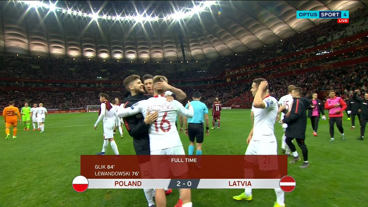 โปแลนด์ ดีเซลเครื่องแรงปลาย รัวท้ายเกมปิดฉาก ลัตเวีย  2-0