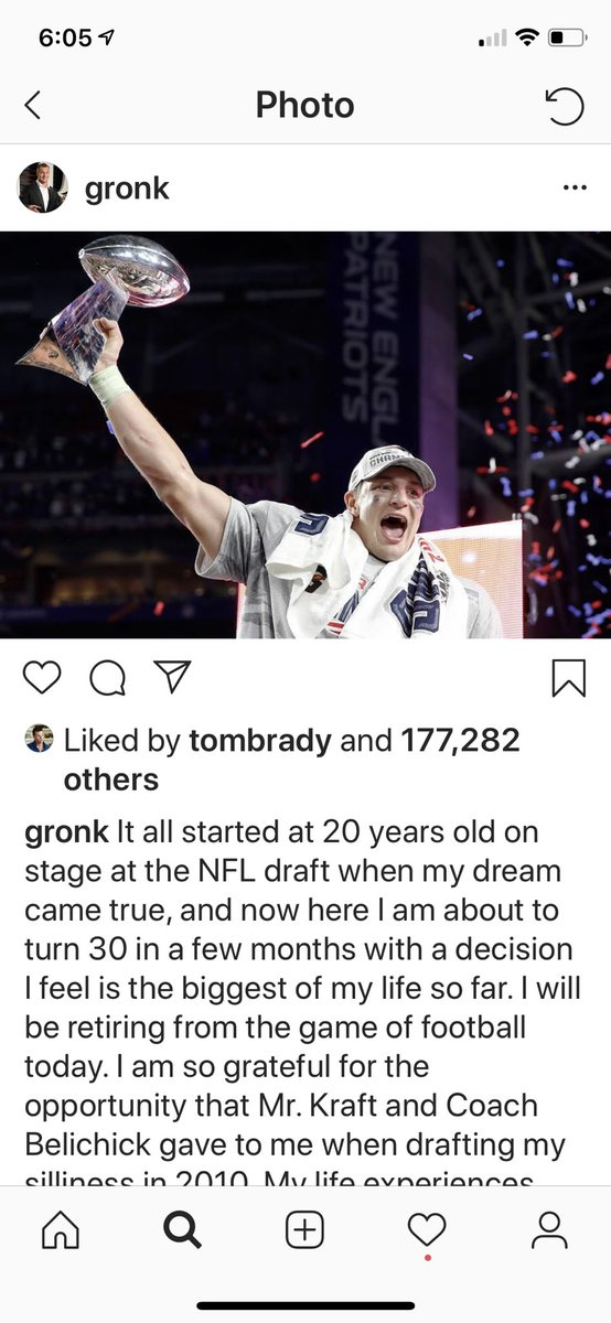 Gronk is done