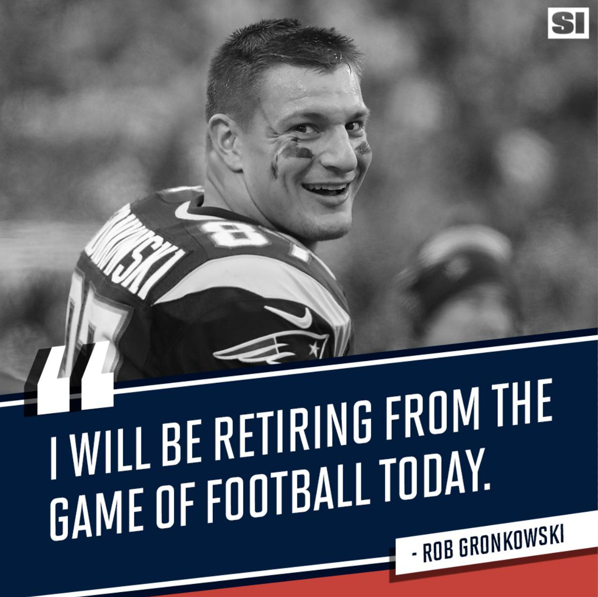 Rob Gronkowski is hanging it up after three Super Bowls with the Patriots: http://go.si.com/D6BgWcf