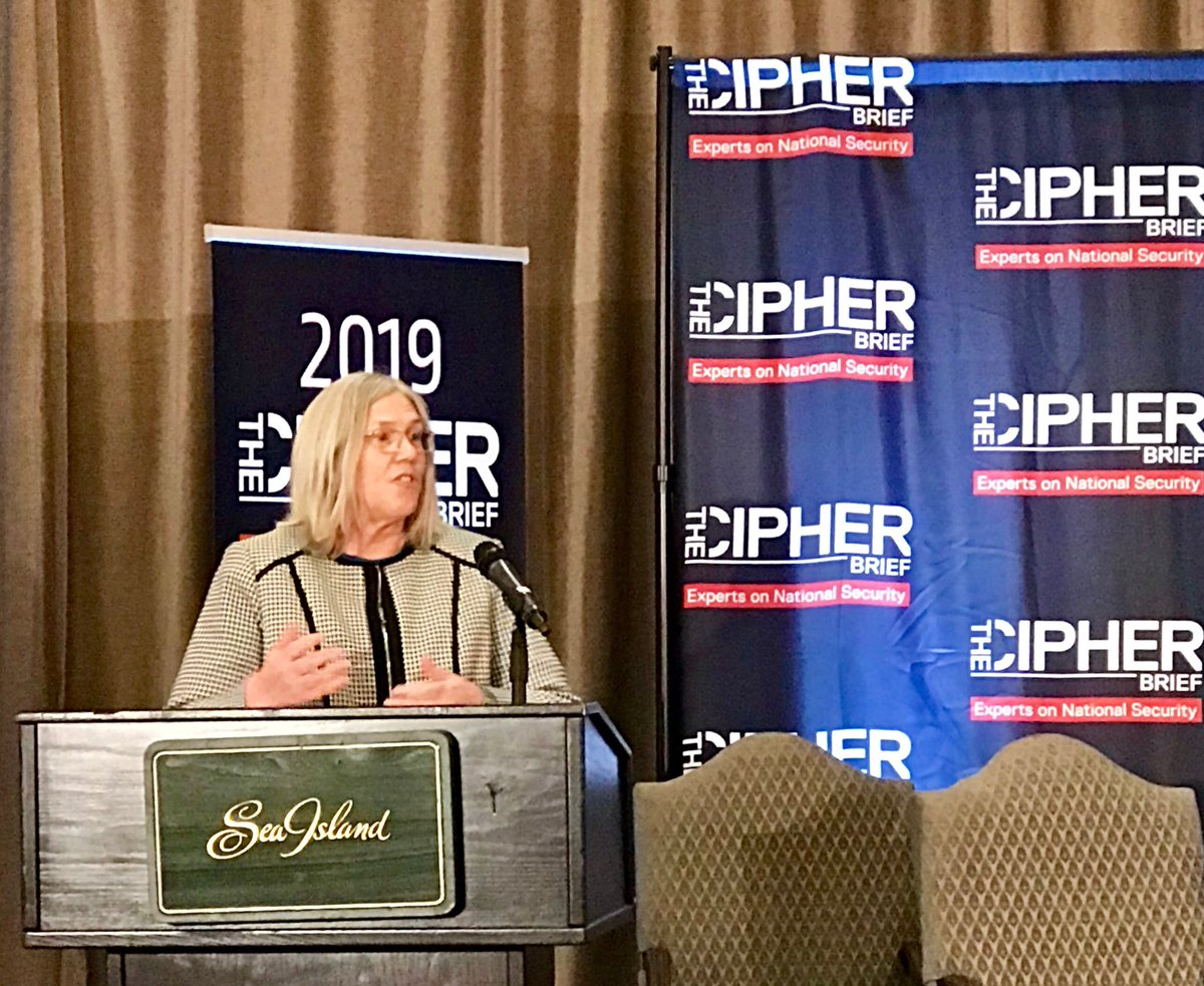 "PDDNI Sue Gordon: ""Our government and the private sector need to realize that our values and equities are indeed aligned.""  #cipherbriefthreatcon"