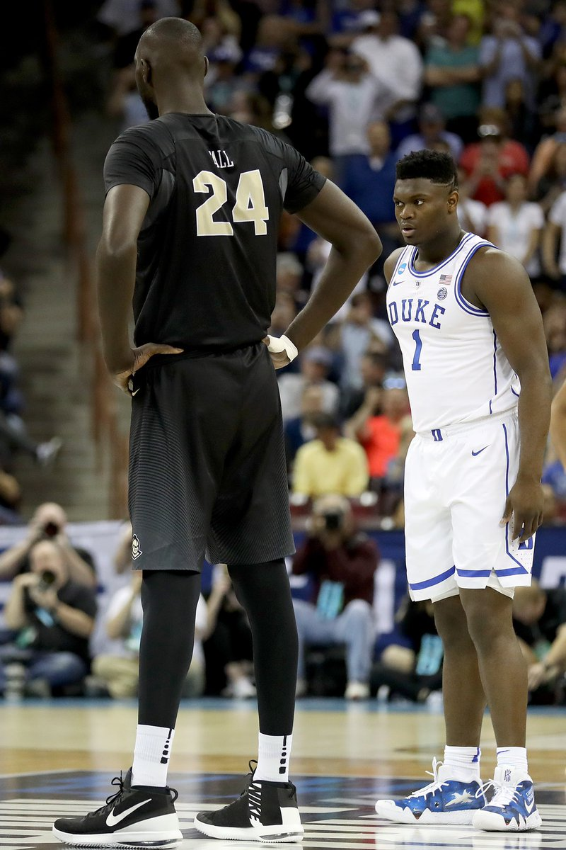 This Photo Of Zion Williamson, Tacko Fall Is Going Viral