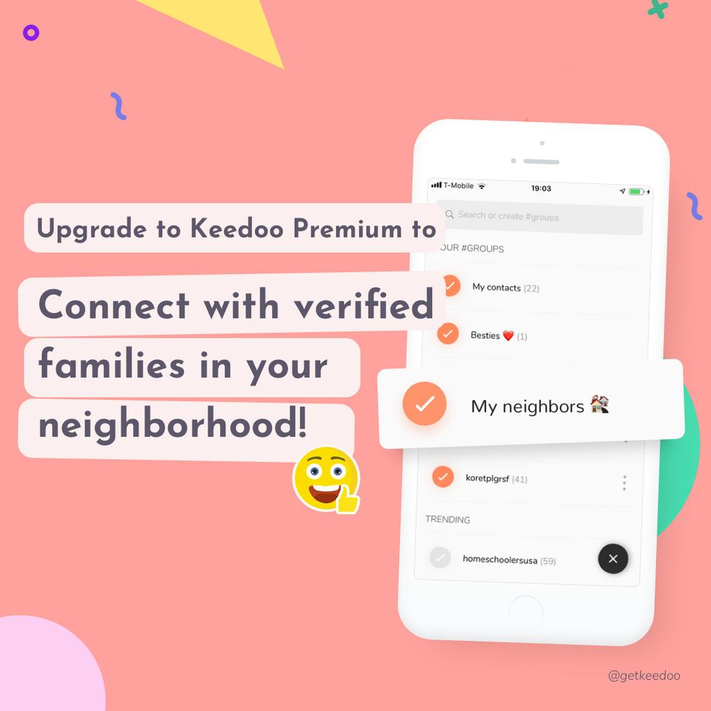 Meet more families in your city and arrange playdates! Verified accounts only! ✅ And for only 5 bucks a month 😉 —— #playdate #playdates #playdatefun #kids #kidsplaying #kidsplaydate #children #parenting #parents #parenthood #mom #momlife #dad #dadlife #keedoo #keedooplaydates https://t.co/u26jhlRPAc