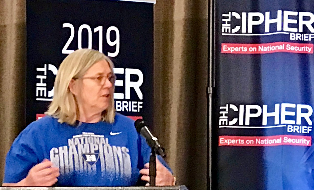 """Protecting our democracy has always been and always will be a priority of our intelligence community."" PDDNI Sue Gordon speaks at the 2019 #cipherbriefthreatcon"