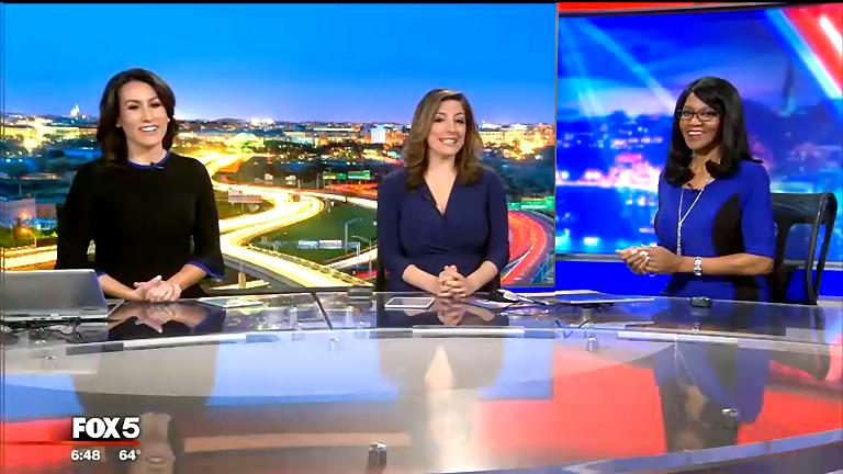 Good evening to your @fox5dc Fox 5 Plus anchors tonight @MarinaMarraco @ldemarcofox5 and @gwenfox5dc