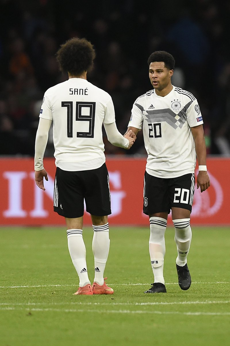 Sané Gnabry Leroy Sané Game Netherlands Touches Fouls Ons